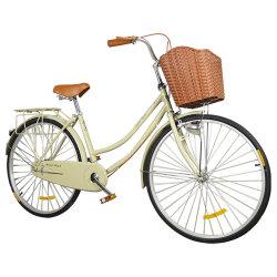 سعر رخيص الصين توريد الألومنيوم تيانجين الدراجة 26 بوصة سرعة واحدة المدينة الهولندية الكلاسيكية Bicicicletas Street Lady City Bike للنساء/الرجال