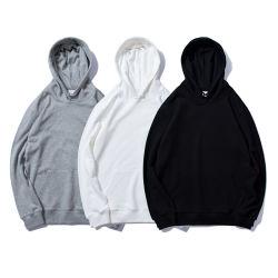 Оптовая торговля одеждой пользуйтесь функцией настройки качества одежды худи 100%хлопок пустым мужчин по индивидуальной Hoodies черно-белого или серого цвета твердых обычной пустой удлиненной худи Pullover