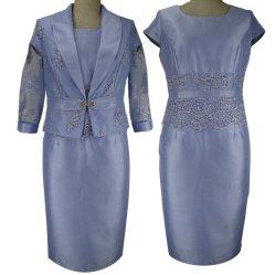 زرقاء عرس ثوب [سقوين] [أبّليقوس] طرّز أم من العروسة [ثر قورتر] كم فعليّة حجم نساء يلبّي