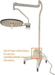 Tipo mobile lampada del Singolo-Braccio Shadowless medico di funzionamento di chirurgia del LED in LED500s