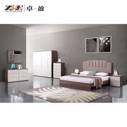 Design moderno com cama King size Quarto Mobiliário doméstico de madeira definido