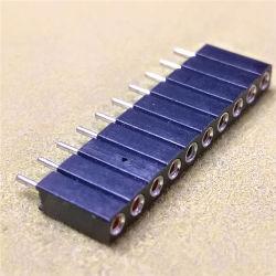2.54mm 1X10핀 일자형 머신 핀 PPS H = 7.0mm L = 10.0mm SIP 소켓 커넥터