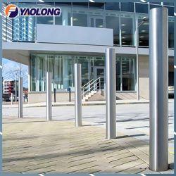 Alberino superiore piano esterno della colonna di ormeggio dell'acciaio inossidabile per il cancello del negozio