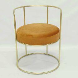 Современные Gold металлические бархата счетчик бар стульями с задней панели
