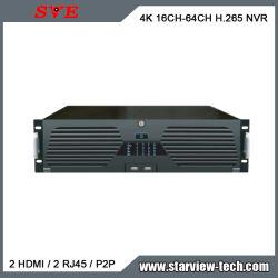 16-KANAALS 64-KANAALS 8MP 16 HDD-BEVEILIGING HD NVR