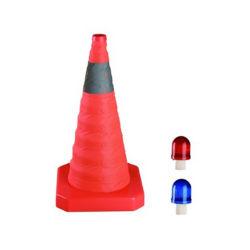 위험 경고를 위한 650mm 접이식 도로 자동 감김 가능한 교통 콘