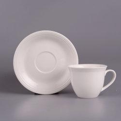 Thé personnalisé de gros de Café Tasse et soucoupe en céramique en porcelaine