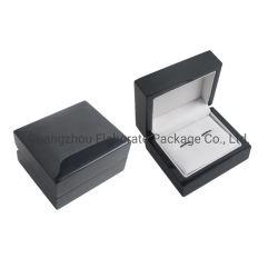 На заводе Custom малых Классическая черная глянцевая лакированная Cufflink деревянная подарочная упаковка