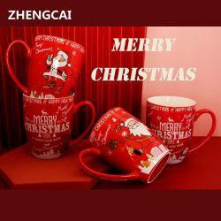 Новая конструкция поощрения керамические кружки для рождественских подарков