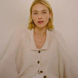 Plus Size Fyb Sweater Knit Cardigan invierno tejido Jacquard personalizados de cuello redondo Jersey jerseys