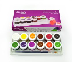 12 цветов акварель краски, цвет воды