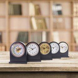 Amazonas-heiße Verkaufs-klassische festes Holz-Alarmuhr-leise hölzerne Tisch-Schreibtisch-Alarmuhr