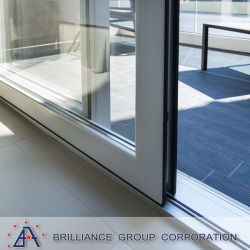 Châssis en aluminium Fenêtres et portes coulissantes en verre pour la construction de bâtiments Villas/commercial