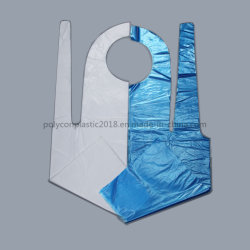 Nettoyage PE jetable personnels un tablier en plastique en provenance de Chine
