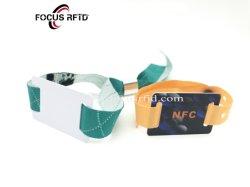 سوار معصم RFID محبوك ببرacelet ذكي بقدره 125 كيلوهرتز لشريحة الذاكرة حمام السباحة