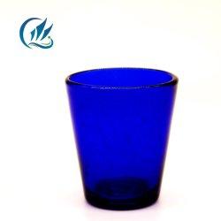 安い卸し売り方法青いカラーコップのガラス泡コップ