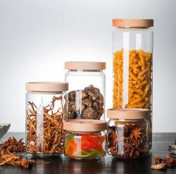 1000ml frasco de vidrio El vidrio Contenedor de almacenamiento de alimentos las botellas de vidrio Vidrio de borosilicato de Jar de almacenamiento