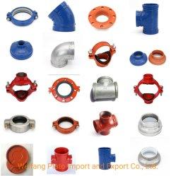 Le moulage de fonte ductile raccords du tuyau d'accouplement cannelé/Réducteur/du coude/Tee/Cross/bride/Cap