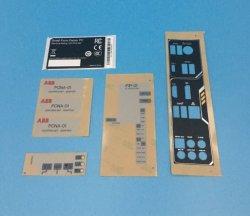 Placa com o nome de impressão de tela/Interruptor para ligar/Server/computador/aparelho eléctrico