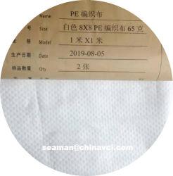 نسيج بوبي مصنوع بالجملة 100% من مادة البولي بروبيلين البكر البكر بنسجة لبنية مصنوعة من النسيج، بوسادة بيلين جملياً مصنوعة من النسيج PP