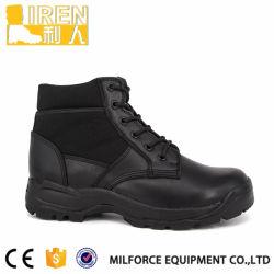 Pele genuína de tecido de nylon Mini botas da Polícia Militar