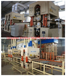 Maschinen, zum der hölzernen Scheiben zu produzieren verwendet bei Produktion und Komprimierung, um MDF-Platten MDF-u. HDF zu bilden Produktionszweig Tablette Macchina