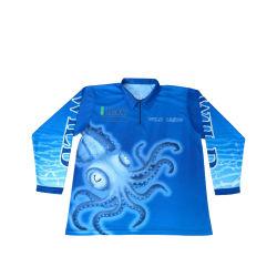 Abbigliamento da pesca a manica lunga personalizzato con logo Team sublimation da uomo Felpa con cappuccio maglia OEM Design Fishing