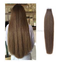 専門の毛の製造業者#6の良質の熱い販売のRemyの人間の毛髪ヨーロッパテープ自然な拡張