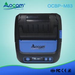 Industriels IP54 80mm mini Étiquette de code barres thermique Imprimante Bluetooth