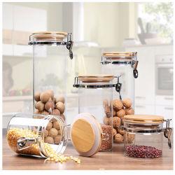Герметичной стеклянной для приготовления чая и кофе сахар баночки для хранения и гранаты со слезоточивым газом