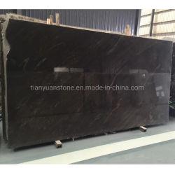Importar/Naturales/losa de granito de piedra negra Metallicus para Hotel de lujo en la decoración de pared