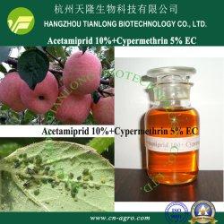 Cypermethrin 5%+Acetamiprid 10% EC-Cypermethrin+Acetamiprid (5%+10%)-Insektizid-Gemisch