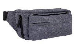 Grand Fanny Pack, Polyester étanche gris et les fermetures à glissière pour All-Weather Protection