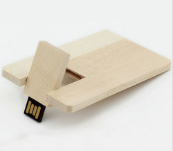8 Go de mémoire flash USB 2.0 de la carte en bois Stick Pen Drive