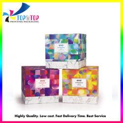 Het vierkante Kosmetische Vakje van het Karton van het Document van de Verpakking van de Gift van het Product van de Zorg van de Huid Verpakkende met Dienblad Flacking