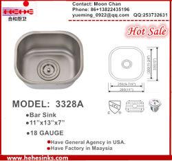 Bar lavabo, d'évier de cuisine en acier inoxydable, la main évier modèle : 3328A