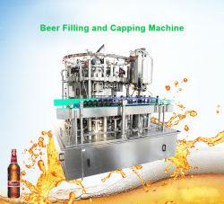 carbonateerde de Automatische Fles van het Glas 3000bph 330ml het Spoelen van het Bier van de Ambacht van de Frisdrank het Vullen Afdekkend 3 in 1 Machine