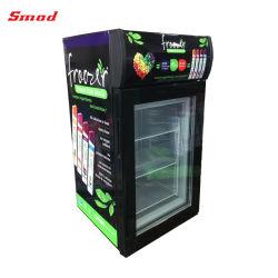 전기 소형 유리제 문 냉장고 작은 아이스크림 전시 냉장고