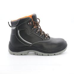 S1P/S3 Action cuir lisse de la mi-Cut pour les travailleurs de chaussures de sécurité en cuir