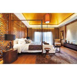 5 estrellas de lujo de madera maciza antiguo hotel de cuatro postes conjuntos de muebles de dormitorio cama con dosel