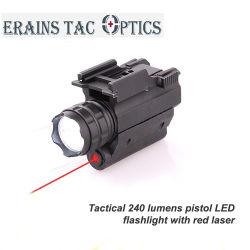 تكتيكيّ 250 تجويف صغير ألومنيوم إتفاق سلاح مساس ليزر أحمر مع ستروب [لد] مشعل مصباح كهربائيّ