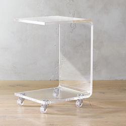 Пользовательские таблицы со стороны Lucite Clear акриловый кофейный столик с магазина для установки в стойку