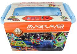 giocattoli magnetici educativi della rotella dei traghetti della particella elementare di plastica luminosa 48PCS