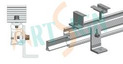 La energía solar fotovoltaica Sistema de montaje para techo metálico