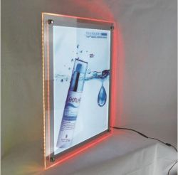 棒レストランのためのカスタム水晶LEDのライトボックスアクリルLEDメニュー値段表の表示ライトボックス