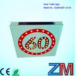 제한 속도를 위한 알루미늄 태양 LED 번쩍이는 도로 표지