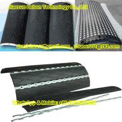 Rivestimento isolante di gomma del diamante sostituibile per la puleggia del timpano del trasportatore