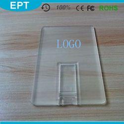Arylic negocios de cristal con forma de tarjeta de crédito USB Flash Drive (CE521)