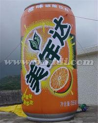 Gigante che fa pubblicità alla latta gonfiabile K3040 delle repliche della bottiglia gonfiabile gonfiabile della spremuta