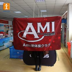 Термосублимационная пользовательские рекламных плакатов ткани цифровая печать баннера флага